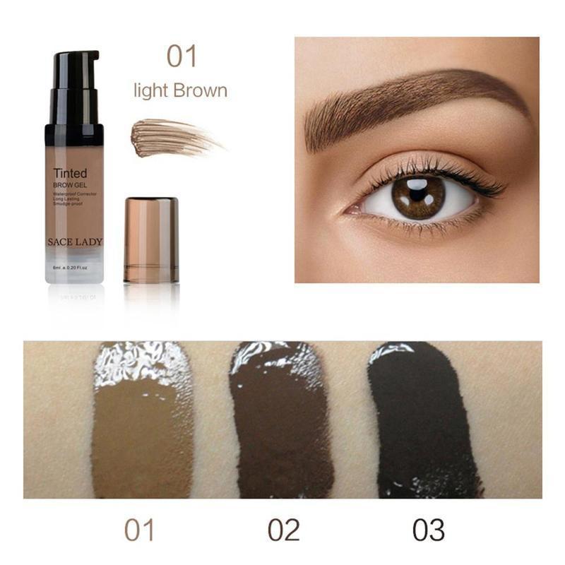Sace Lady Eye Brow Waterproof Gel Makeup Eyebrow Stamp Enhancer