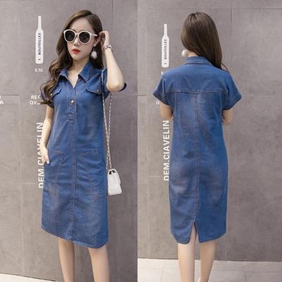 9851e12520a1 Женщины платье Женская летняя одежда женщин джинсы платья элегантные  случайные ковбой