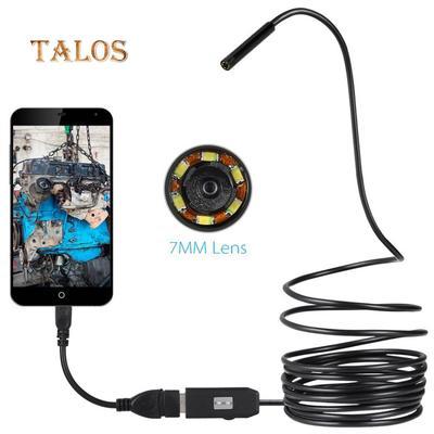 6LED 7mm Lens Endoscope IP67 Waterproof USB Cable Snake Tube Inspection Camera for OTG Smart Phones