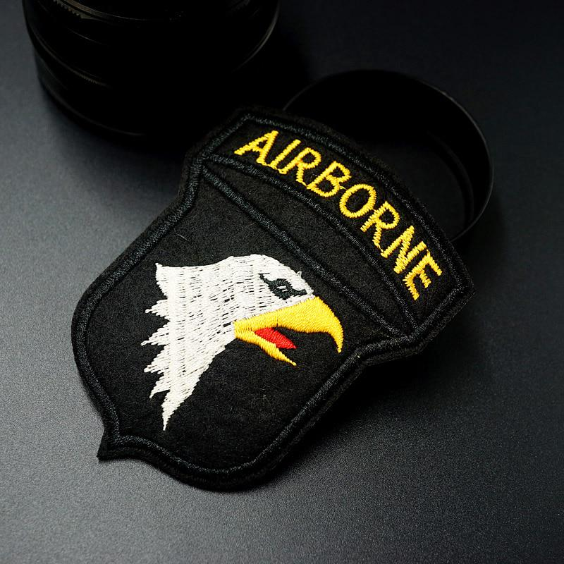 black Text Tag Patch US Flag /& Blood Type Embroidered Name
