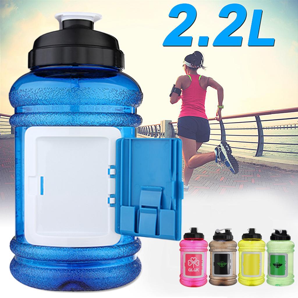 2.2L BPA Free Sport Gym Training Hiking Drink Water Bottle Cap Kettle Camping