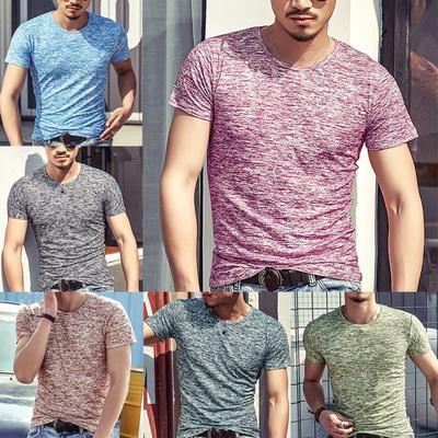 New Men/'s Slim O-Neck Short Sleeve Tee T-shirt Fashion Casual Tops Blouse