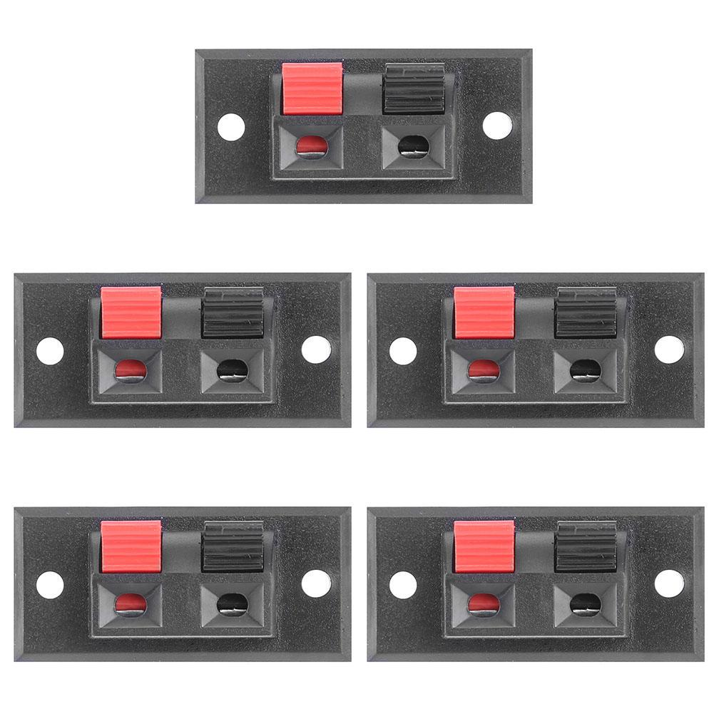 10x 2 Positions Push in Jack Spring Load Audio Speaker Terminals Panel Connector