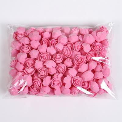 50pcs/bag Mini Rose Foam Flowers DIY Bouquet Wedding Party Decoration