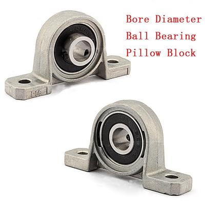 2Pcs KP001 Bore 12mm Ball Mounted Block Cast Housing Pillow Insert Bearings