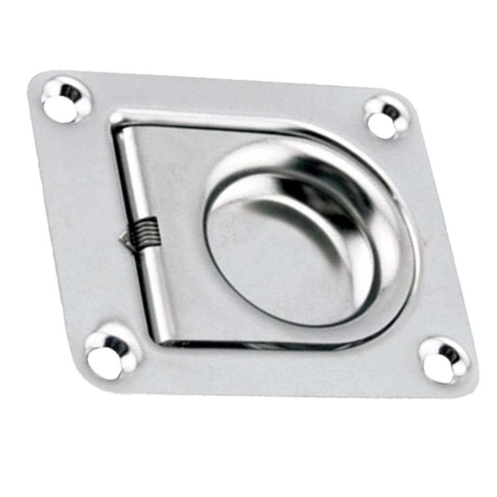 "Marine Boat Stainless Steel 1.7/"" Flush Pull Slam Locker Hatch Latch Lift Handle"
