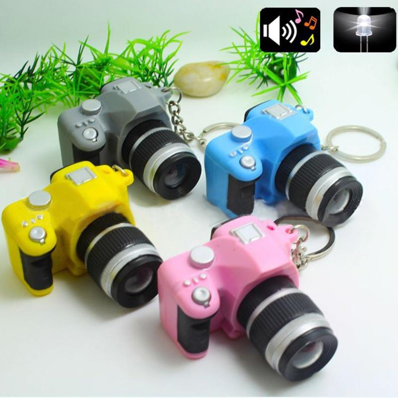 Mini Digital Reflex DSLR Camera LED Flash Light Torch Shutter Sound Keychain
