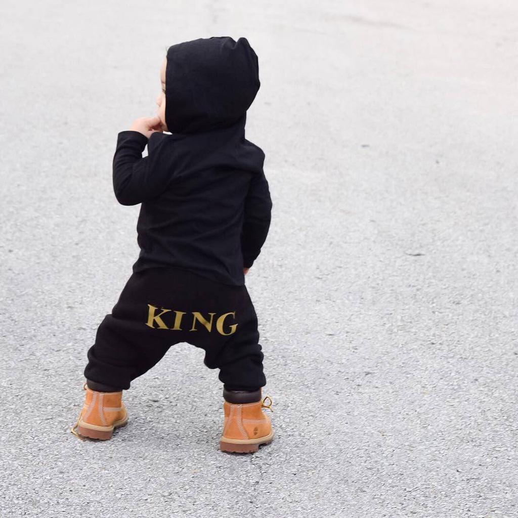 "Newborn Baby Boys /""KING/"" Hoodie Romper Jumpsuit Bodysuit Playsuit Clothes Outfit"