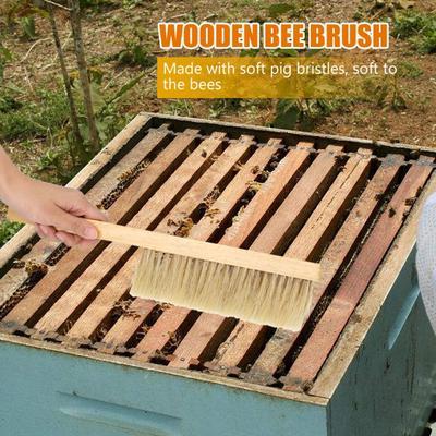 40cm Wood handle Beekeepers Bee Brush beekeeping soft bristle brushing