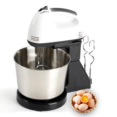 220V Electric Food Egg Hand Mixer Cake Dough Stand Blender Bowl Cream Beater 7 Speed Baking Tool