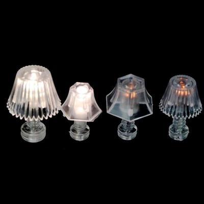 2 Pieces Metal 1:12 Dollhouse Miniature Wall Light Lamp Model Decorat BS