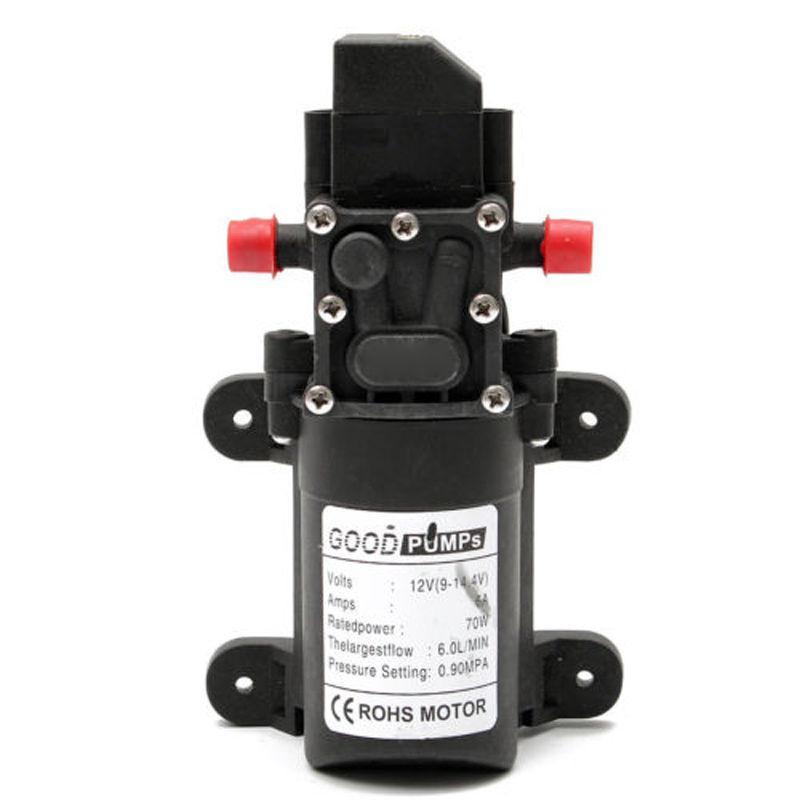 Pompe /à Eau Automatique Haute Pression 12V 60W 5L//min DC Pompe /à Membrane Pompe Auto-amor/çante pour Lavage de Voiture