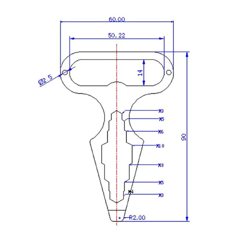 19in1 Multi-Werkzeug Schraubenschlüssel Kombigerät tragbare Outdoor-Schneeflocke