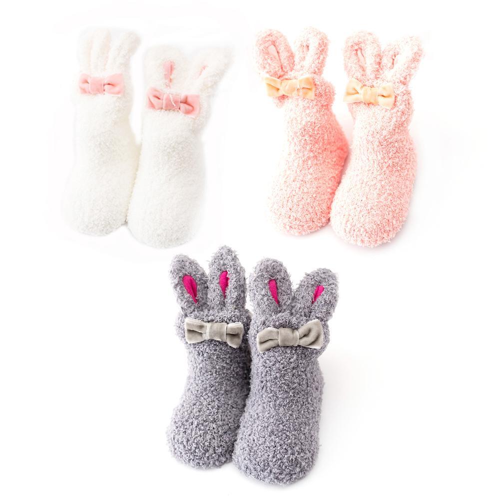 ANIMQUE 3 pares calcetines antideslizante para beb/és Invierno 0-3 a/ños Ni/ños Ni/ñas peque/ños Calcetines gruesos c/álidos Inicio Respirable C/ómodo