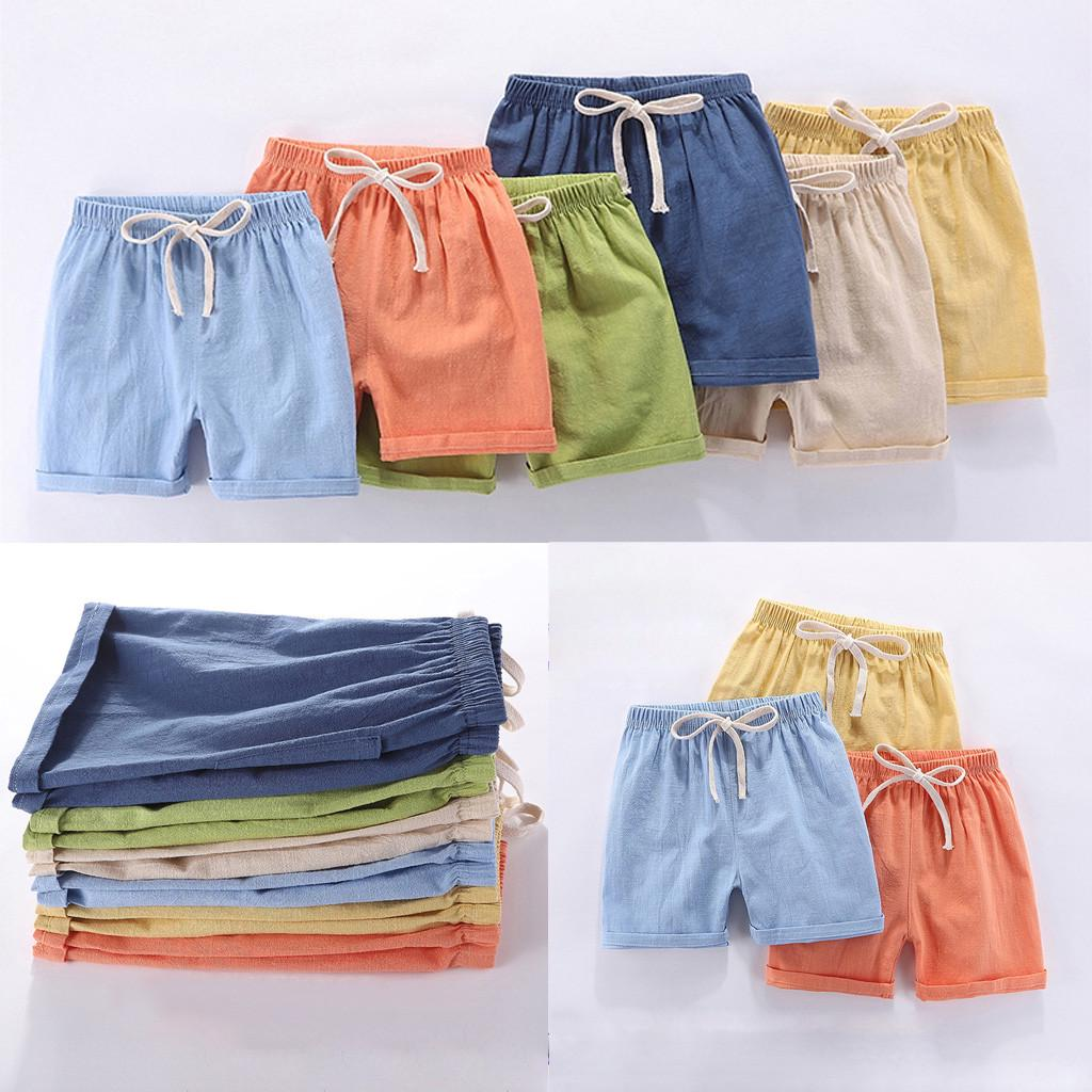 Little Boys Summer Over Knee Length Cotton Shark Sport Shorts Kids Elastic Waist Short Pants