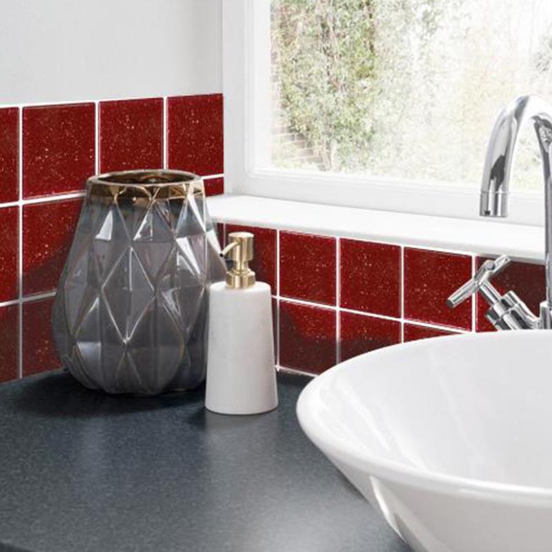 Waterproof 3D Mosaic Bathroom Tile Wall Sticker Stick-on Self-adhesive Decors