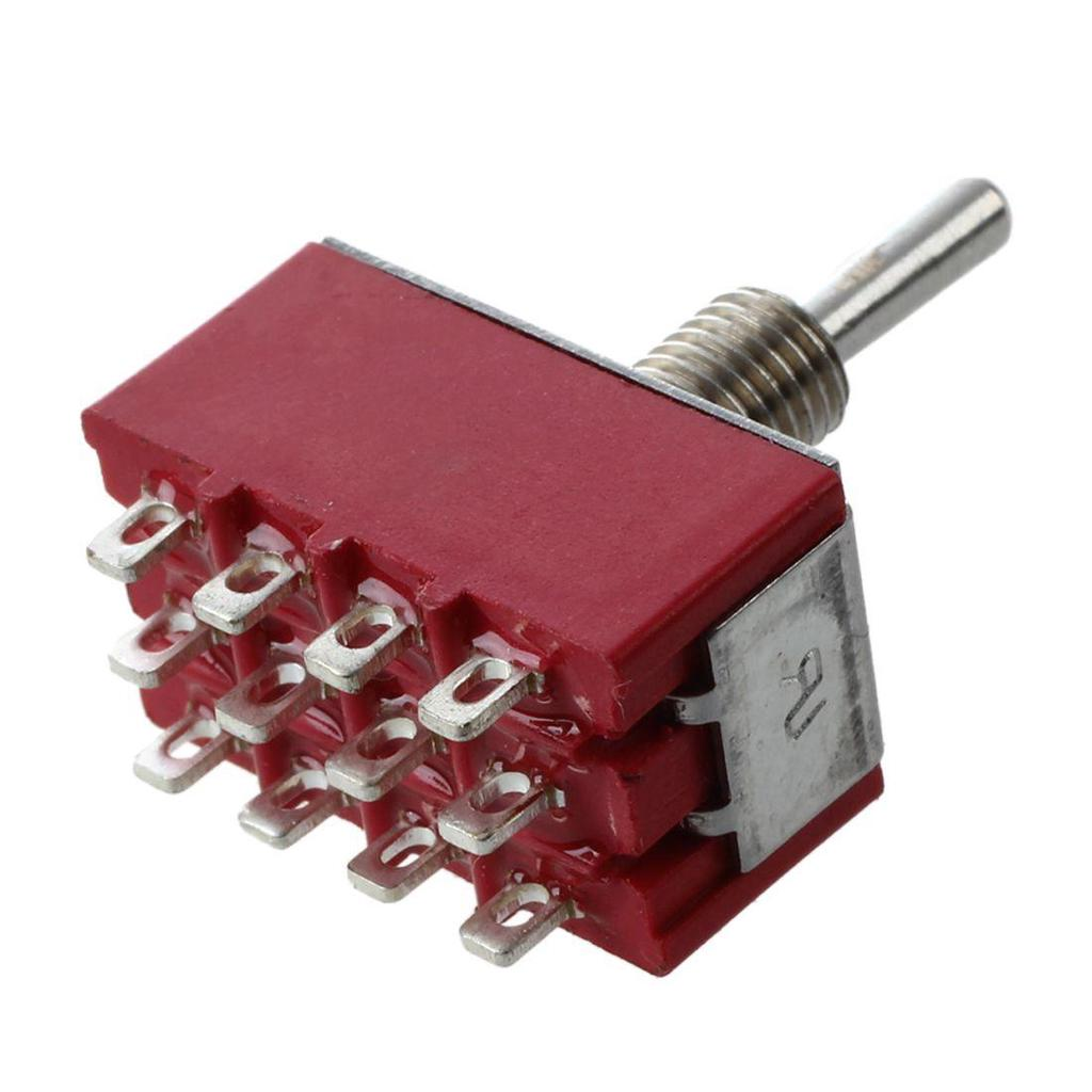 649NH//2 APEM 10A Toggle DPDT ON-OFF-ON Plastica
