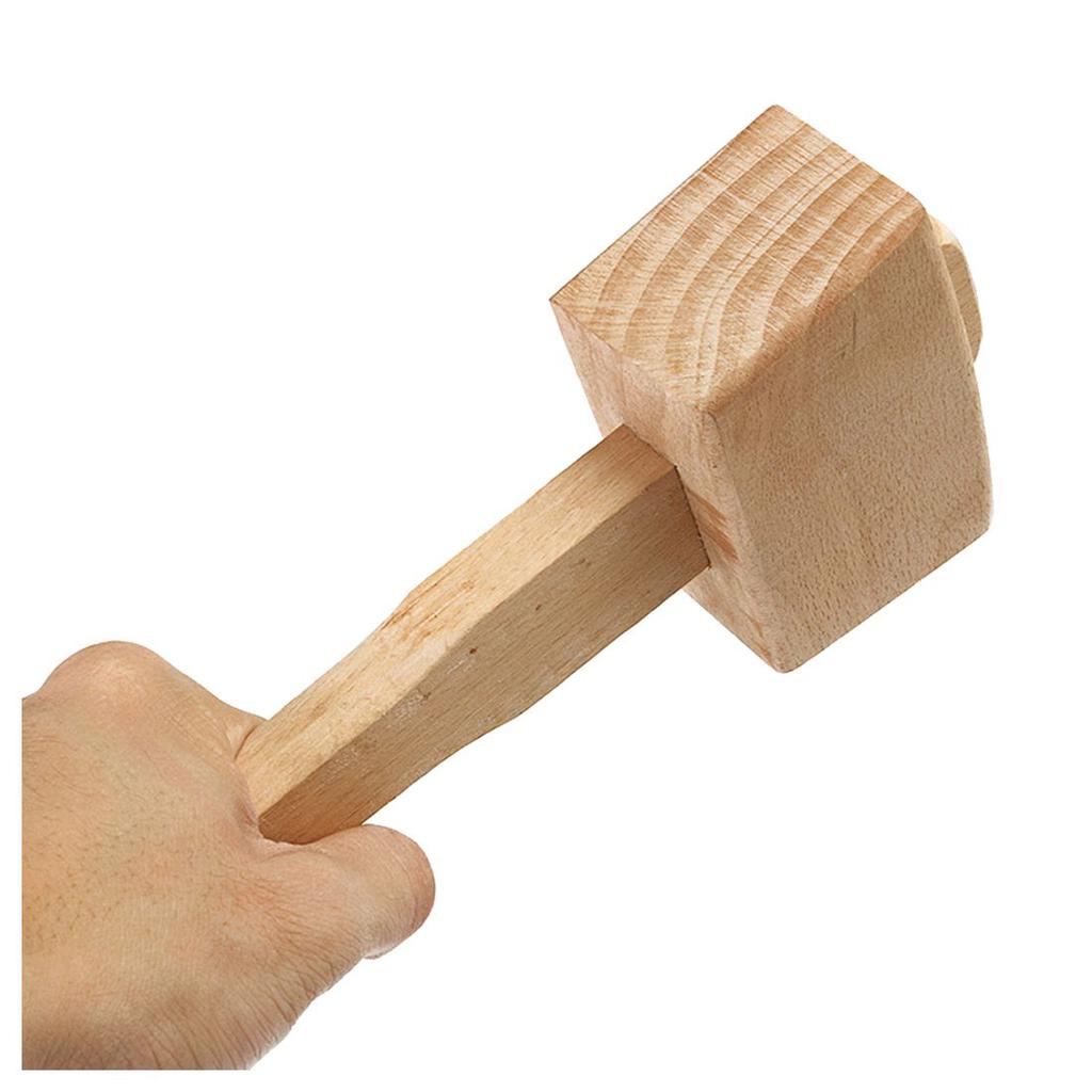 Solid Hardness Wooden Mallet Hammer Woodwork Leather Working