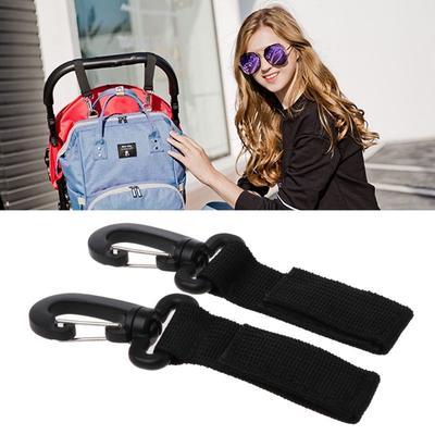 2//4//6 Pcs Universal Mummy Buggy Pram Pushchair Shopping Bag Hook Carabiner Clips