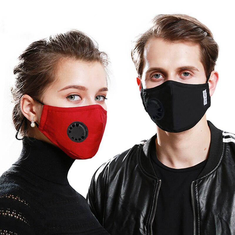 Anti-droplet Cycling Protective Mouth Muffle Mouth Cover with Air Breather Valve