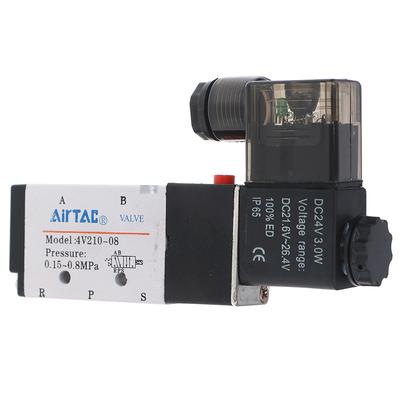 1PC Solenoid valve 4V210-08 voltage DC24V