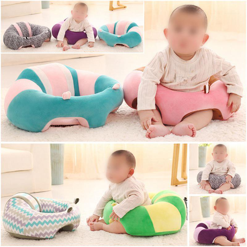 Toddler Baby Kids Learning To Sit Chair Sofa Cute Pillow Cotton Baby Seat Holder