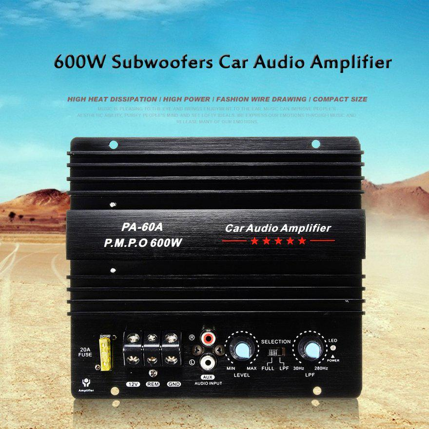 Durable 12V Car Dual Channel Mini Hi-Fi Stereos Speakers Amplifier 180W+180W