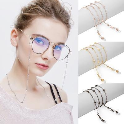 1PC Glasses Holder Glasses Chain Anti-slip Adjustable Metal Bead Glasses Strap Cord Holder Fashion