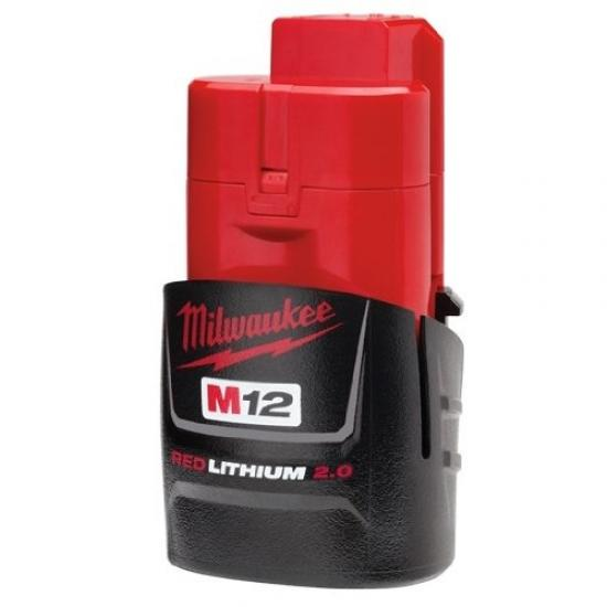 Original Milwaukee  12 V Akku M12B2 Lithium 2.0 Ah