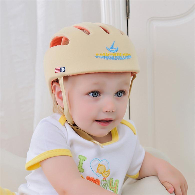 Baby-Sicherheits-Gehen Schutzkappe Helm Kinder Antikollisions Einstellbare Schutzhelm f/ür Baby-Kleinkind Pink