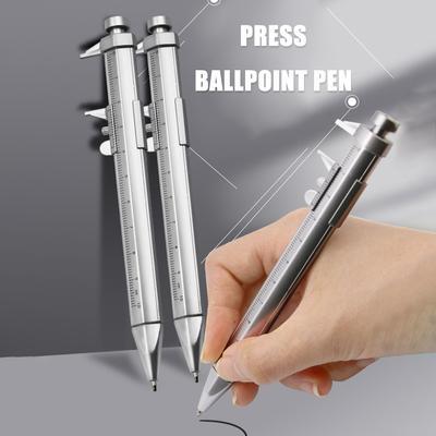 Multifunction Vernier Caliper Gel Ink Pen Ball Point Pens Roller Ball Pen Measuring Gauging Tools