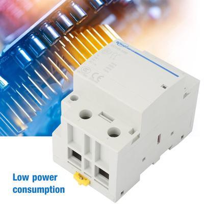 AC230V Household AC Contactor 2P 1NC//1NO 100A Modular Contactor 24//230V 50//60HZ Household AC Contactor 1,000,000 Mechanical Life