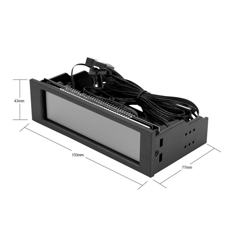 Front LCD Panel,5-Fans Speed Controller CPU Temperature Sensor Computer Cooling Drive Bay Front LCD Panel,AUTO//Manual Manual Mode Automatic Mode Switch