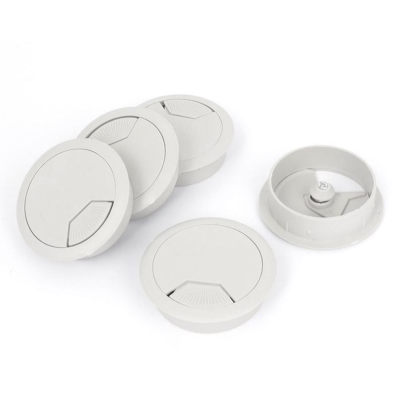 5 Stück Kunststoff-Kabelverschraubung für Computertisch, Abdeckung ...