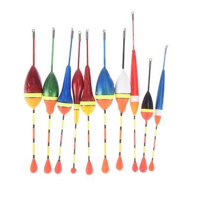 10Pcs Long Tail Mix Size Fishing Throw Floats Floating Bobbers Set Fishing New T