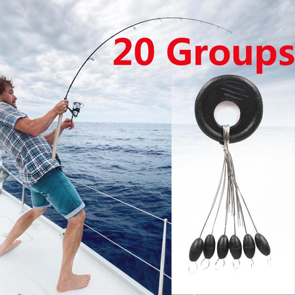 20PCS Sea Fishing Space Bean Fishing Tackle Fishing Gear Accessories