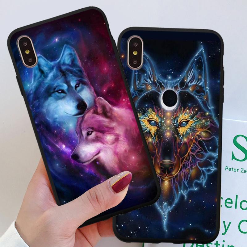 Fluorescent loup TPU Mobile Case Pour iPhone 7/8 Plus Pour Samsung A80 Huawei Xiaomi Mi - faire des achats en ligne à bas prix sur Joom