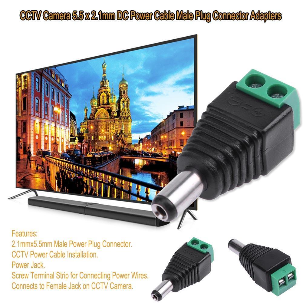 2.1mm CCTV camera DC Power Male Jack Connector 20pcs