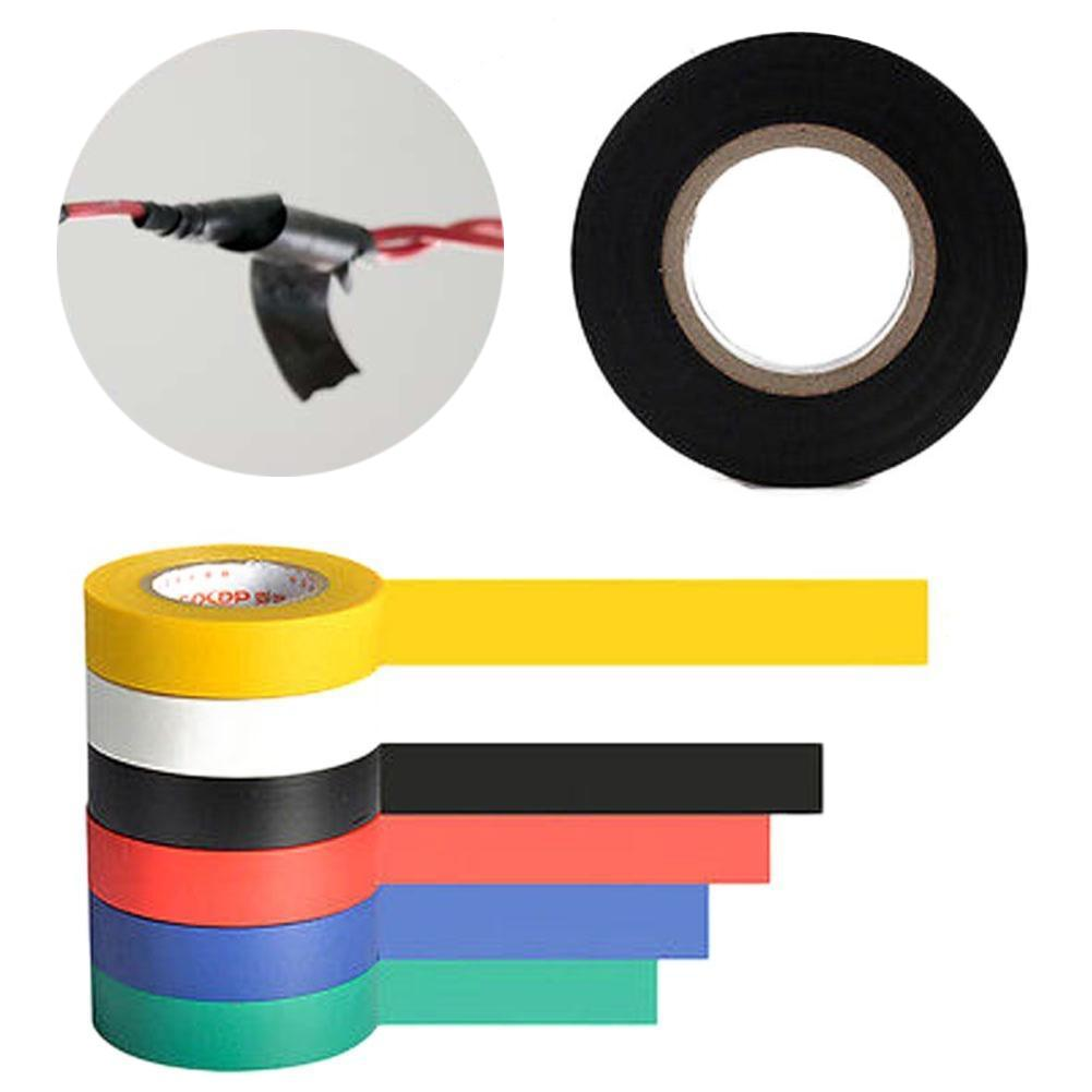 1Pc 3.5M Vinyl Electrical Tape Insulation Adhesive Tape Black Home Use Tools HV