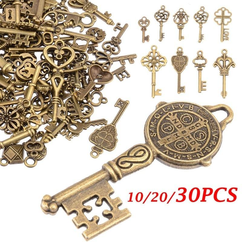 30pcs Iron Vintage Bronze Mixed Butterfly Pendants Charms Jewelry Accessories