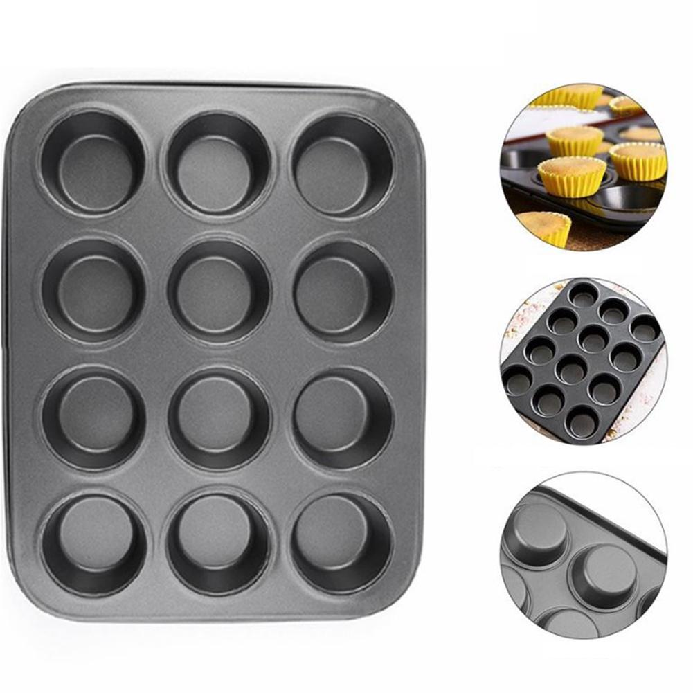 Cupcake Mould Carbon Steel Cake Tray Pan Baking Tool Round Easy to clean