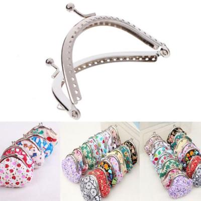 Sac de sac à main pièce métallique 1PC 8,5 cm artisanat bricolage cadre Kiss fermoir verrou accessoires