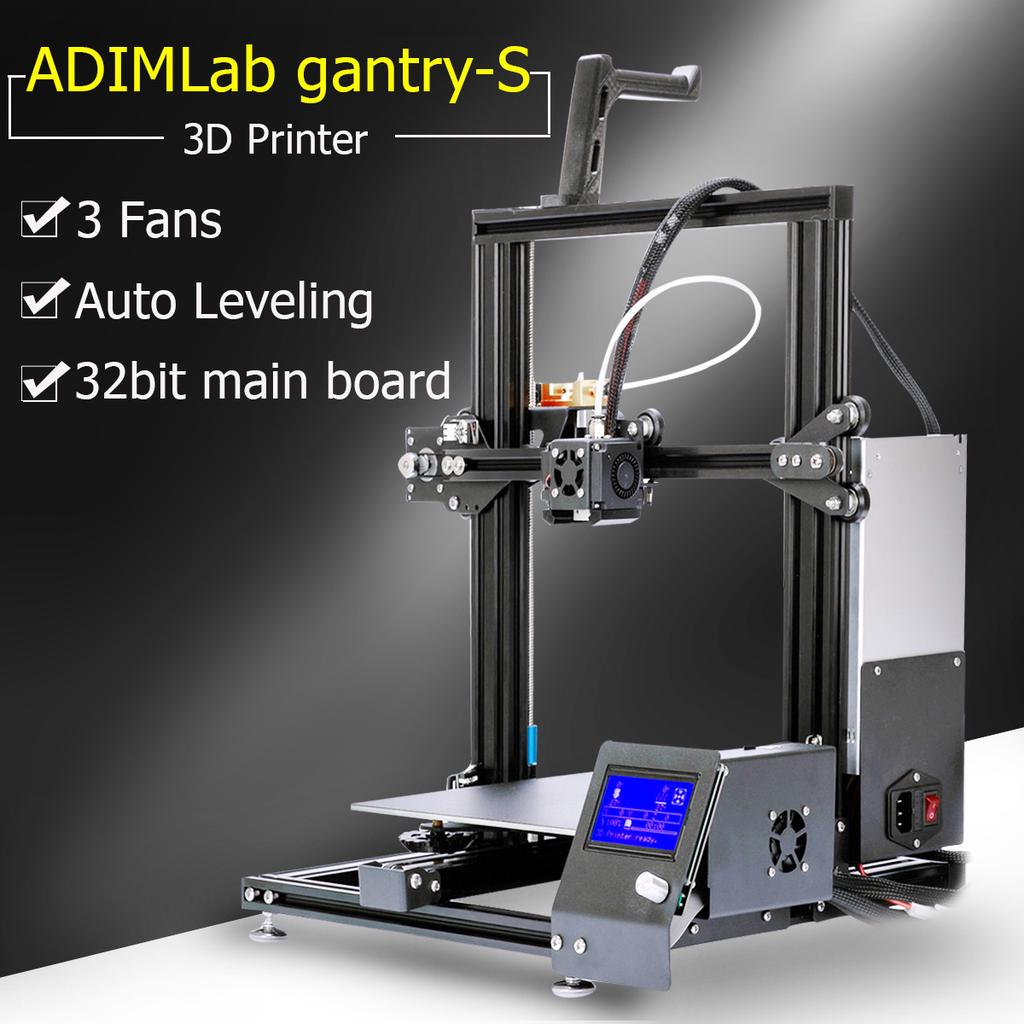 Upgrade ADIMLab gantry S 3D Printer DIY Kit LCD Screen Auto Leveling Power  Resume Max Build Volume