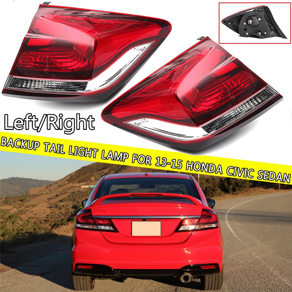 Rear Bumper Reflector for Honda Civic 13-15 Right and Left Side ...