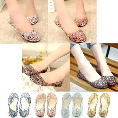 b93e665ac23f28 YG Women Crystal Plastic Jelly Hollowed Flat Sandals-buy at a low ...
