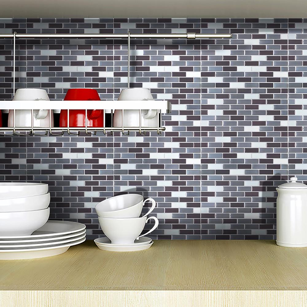 - 3D Tiles Mosaic 9x9-Inch Backsplash Tiles For Bathrooms And
