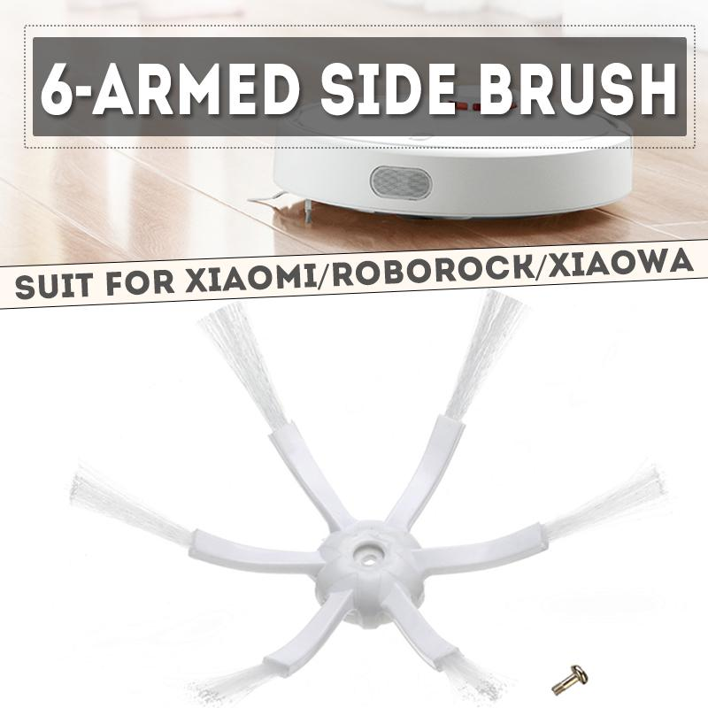 6 Arms Side brushes For Xiaomi Mi Roborock S50 Robot White Accessories Parts