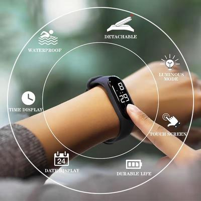 LED Electronic Sports Luminous Watches Fashion Men and Women Watches  Dress Watch Digital Watches