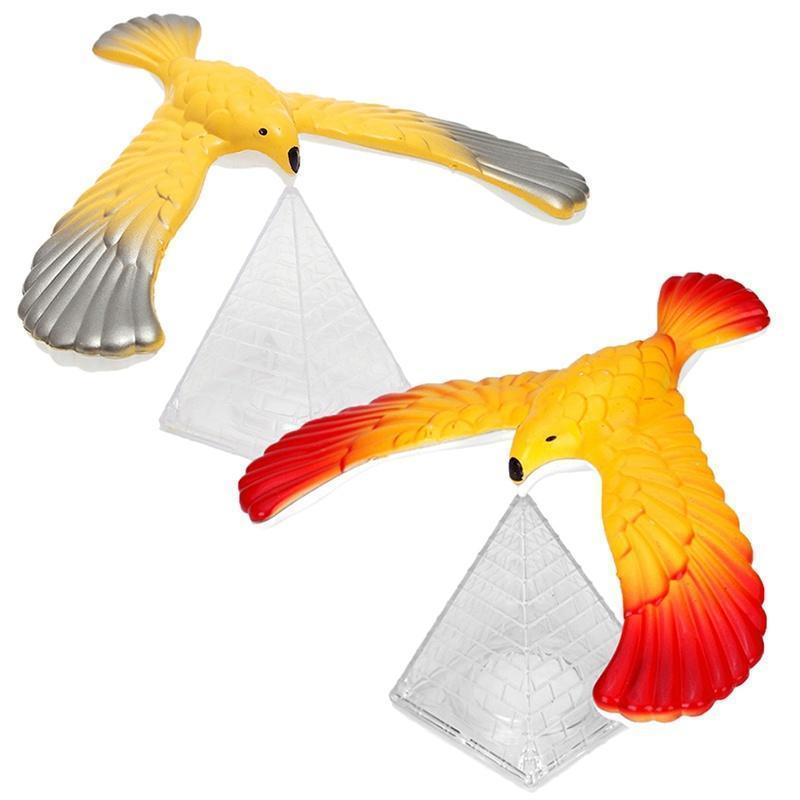 1PCS Magic Balancing Bird Random Color Science Desk Toy Novelty Fun Learning Gag