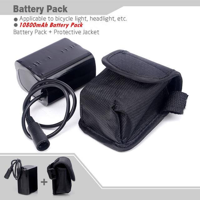 8.4V DC Rechargeable 18650 Batteries Pack For LED Bike Cycling CREE T6//U2 Lights